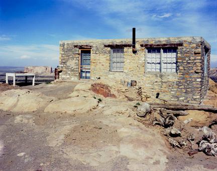 Acoma House at edge of the Mesa
