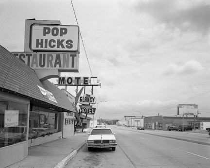 Pop Hicks and the Glancy Motel, Clinton, Oklhoma