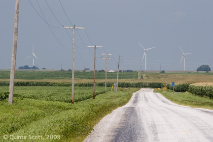 Twin Groves Wind Farm, Bloomington Moraine, LeRoy, Illinois